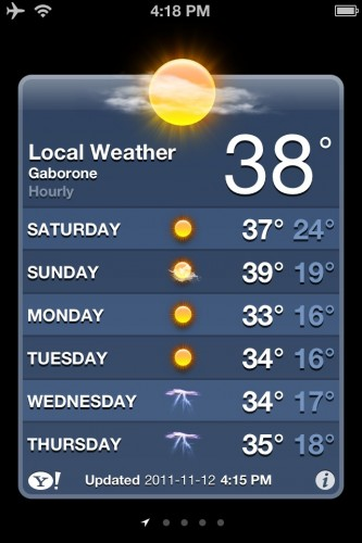 38 degrees in Gabs with no relief in...